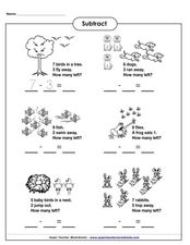 Subtract Worksheet