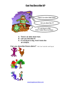 Can You Describe It? Worksheet