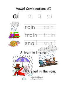 vowel combinations ai worksheet for kindergarten 1st grade lesson planet. Black Bedroom Furniture Sets. Home Design Ideas