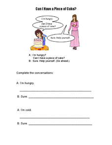 Can I Have a Piece of Cake? Worksheet