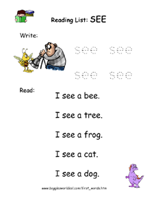 Reading List: See Worksheet