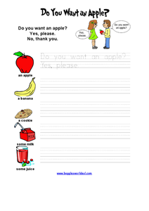 Do You Want an Apple? Worksheet