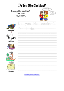 Do You Like Cookies? Worksheet