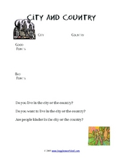 Compare and Contrast: City and Country Worksheet