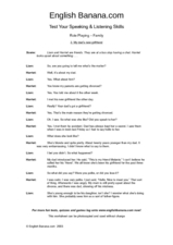 Testing Your Speaking and Listening Skills - Role Play - Family Worksheet
