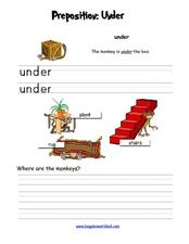 Preposition: Under Worksheet