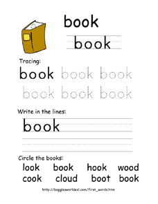 First Word: Book Worksheet