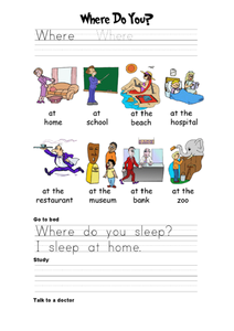 Where Do You...? Worksheet