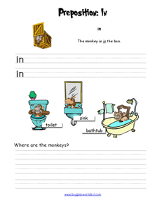 Preposition: In Worksheet