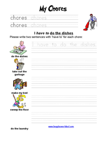 My Chores Worksheet