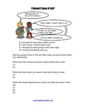 "Conversation Practice - ""I Haven't Seen It Yet"" Worksheet"