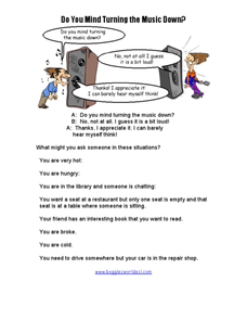 Do You Mind Turning the Music Down? Worksheet