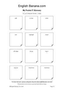 A to Z of Computer Words - Verbs 2 Worksheet