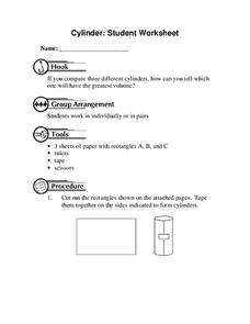 Cylinder: Student Worksheet Lesson Plan