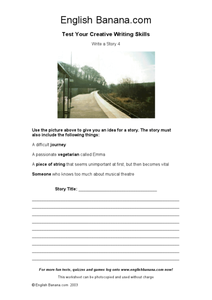 Write A Story 4 Worksheet