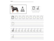 D is for Dog: Letter Dd Interactive