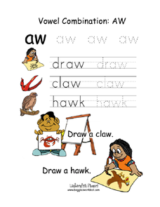Vowel Combination: Aw Worksheet