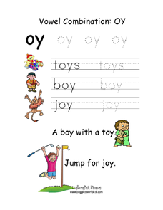 vowel combination oy worksheet for kindergarten 2nd grade lesson planet. Black Bedroom Furniture Sets. Home Design Ideas