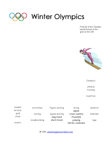 The Winter Olympics Worksheet
