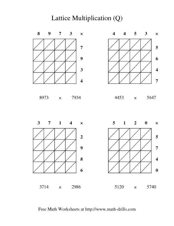lattice multiplication q worksheet for 3rd 4th grade lesson planet. Black Bedroom Furniture Sets. Home Design Ideas