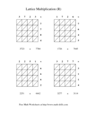 Lattice Multiplication (R) Worksheet