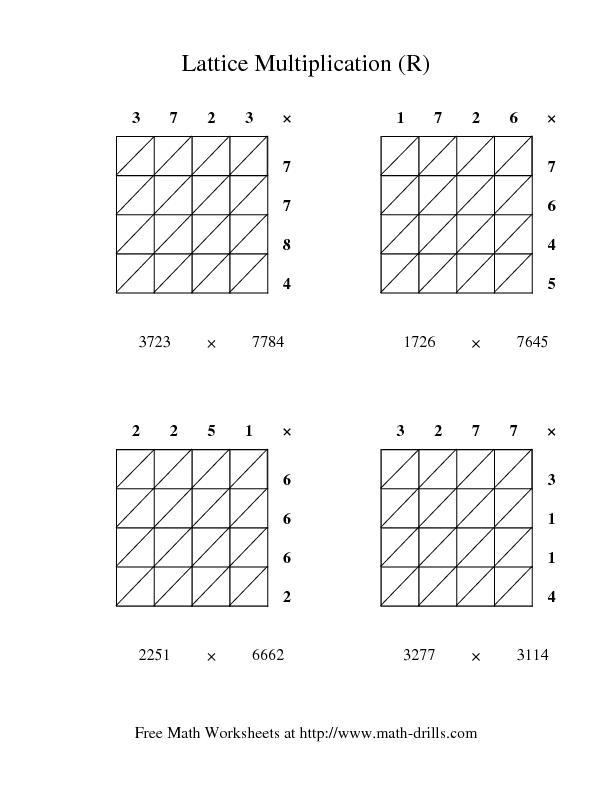lattice multiplication r worksheet for 3rd 4th grade lesson planet. Black Bedroom Furniture Sets. Home Design Ideas