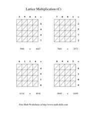 Lattice Multiplication #2 Worksheet