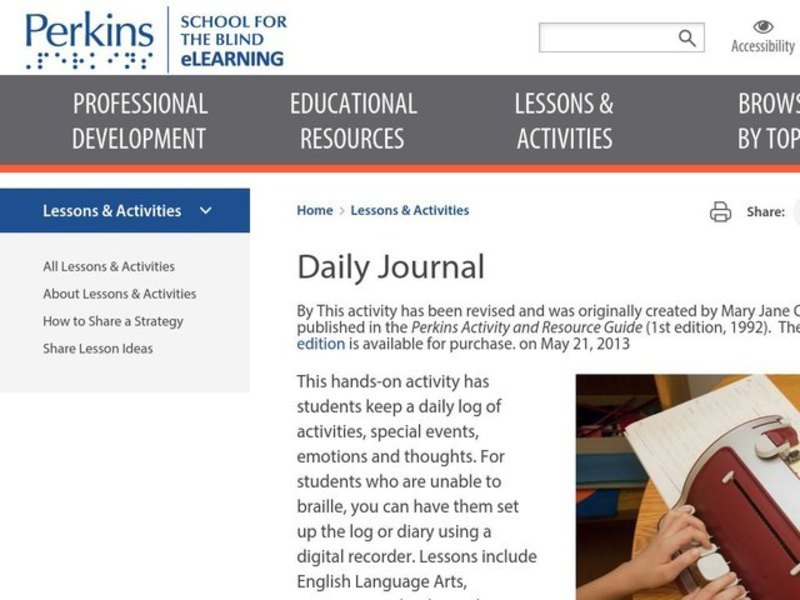 Daily Journal Lesson Plan