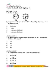 Daily Math Practice Lesson Plan