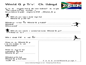 World Cup Trivia Challenge Worksheet