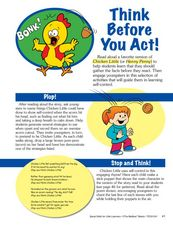 Think Before You Act! Lesson Plan