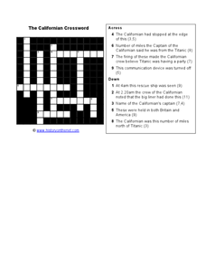 The Californian Crossword Worksheet