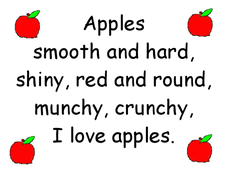 Apples: Descriptive Poster Worksheet