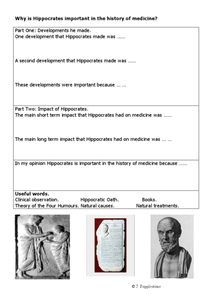 Why Is Hippocrates Important In the History of Medicine? Worksheet