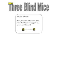 Three Blind Mice Puppets Worksheet