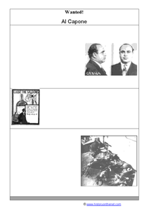 Wanted! Al Capone! Worksheet