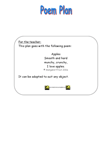 Apple Poems Worksheet