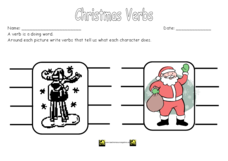 Christmas Verbs Worksheet