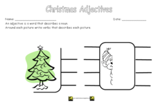 Christmas Adjectives Worksheet