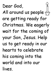 Advent Prayer Worksheet