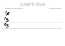 Acrostic Poem: Fly Worksheet