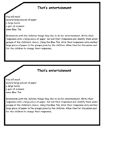 That's Entertainment - Classification Activity Worksheet