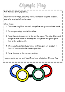 Olympic Flag Lesson Plan