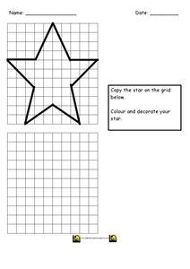 Christmas Star Worksheet