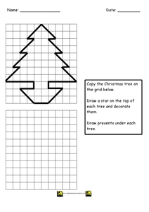 Copy the Christmas Tree Worksheet