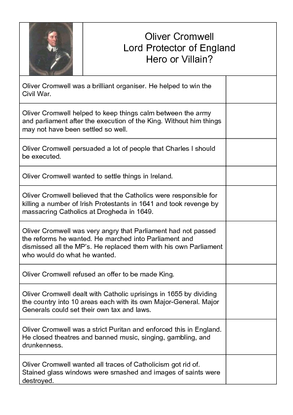 Heroes And Villains Lesson Plans Worksheets Reviewed By Teachers. Oliver Cromwell Hero Or Villain Worksheet. Worksheet. Protagonist And Antagonist Worksheet At Mspartners.co