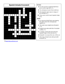 spanish armada crossword worksheet for 9th 12th grade lesson planet. Black Bedroom Furniture Sets. Home Design Ideas