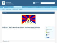 Dalai Lama Peace and Conflict Resolution Lesson Plan