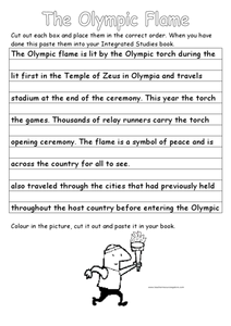 The Olympic Flame Worksheet
