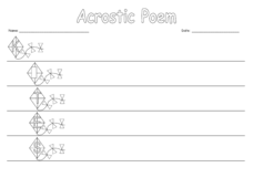 Acrostic Poem: Kites Worksheet